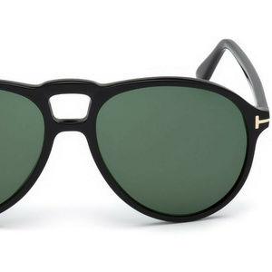 Tom Ford Accessories - Tom Ford Lennon-02 TF0645 01N Shiny Black / Green